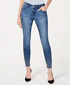 I.N.C. Curvy Studded Skinny Jeans, Created for Macy's