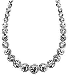 Sterling Silver Necklace, Swarovski Zirconia Necklace (55-1/3 ct. t.w.)