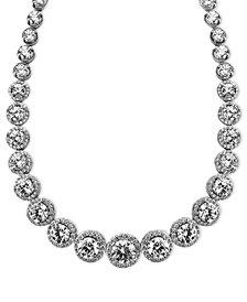 Arabella Sterling Silver Necklace, Swarovski Zirconia Necklace (55-1/3 ct. t.w.)