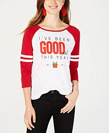 Love Tribe Juniors' Holiday Baseball T-Shirt