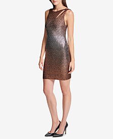 GUESS Metallic Ombré Bodycon Dress, Created for Macy's
