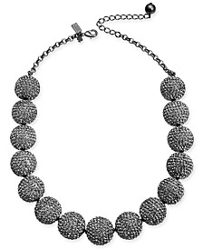 "kate spade new york Pavé Orb Collar Necklace, 18"" + 3"" extender"