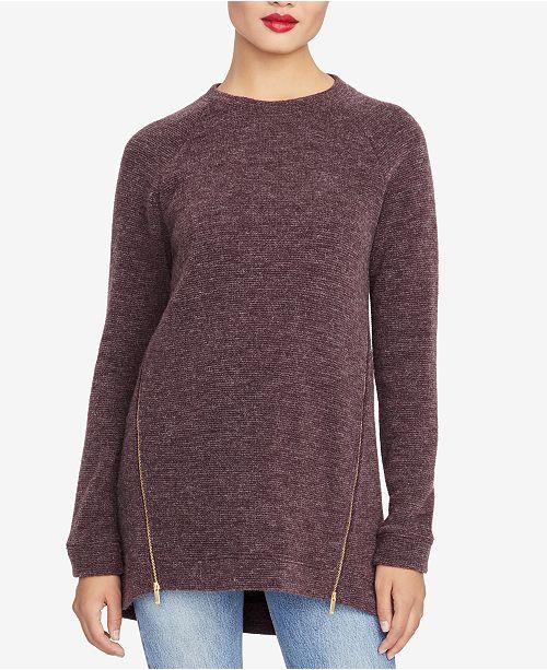 1f0aaa69a54a8 RACHEL Rachel Roy Asymmetrical Zipper Sweater   Reviews ...