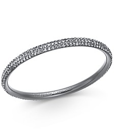 Kate Spade New York  Hematite-Tone Crystal Bangle Bracelet