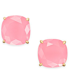 kate spade new york Gold-Tone Crystal Square Stud Earrings