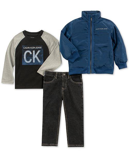 d45991f52cc6 Calvin Klein Toddler Boys 3-Pc. Logo-Print T-shirt