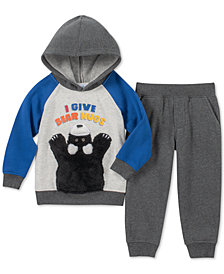 Kids Headquarters Toddler Boys 2-Pc. Hug Bears Hoodie & Jogger Pants Set