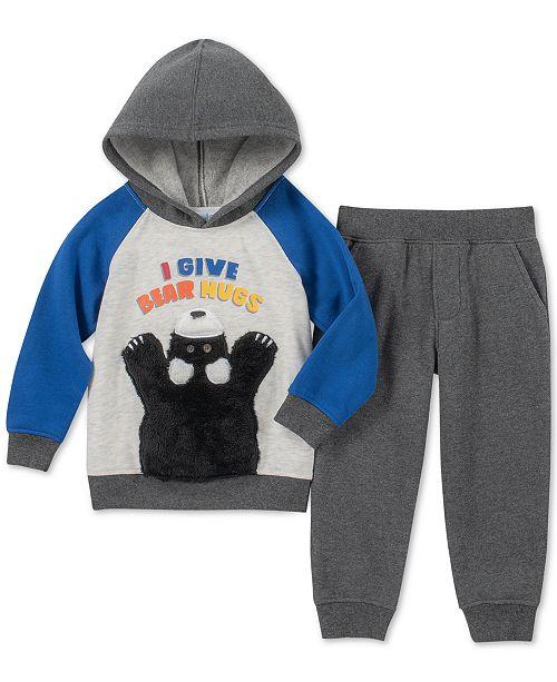 bf7dfd129 Kids Headquarters Toddler Boys 2-Pc. Hug Bears Hoodie & Jogger Pants Set