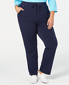 Karen Scott Plus Size Pull-On Pants, Created for Macy's