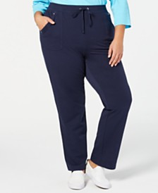 2a14ed157a0 Karen Scott Plus Size Pull-On Pants
