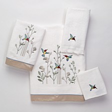 Colibri Embroidered Hand Towel