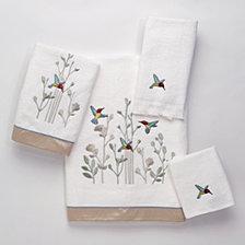 Avanti Colibri Embroidered Bath Towel