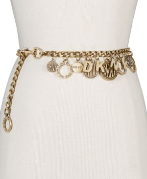 Token Logo Charm Chain Belt, Created For Macy'S in Oeb Antique Gold