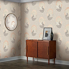 Tempaper Deco Peacock Self-Adhesive Wallpaper