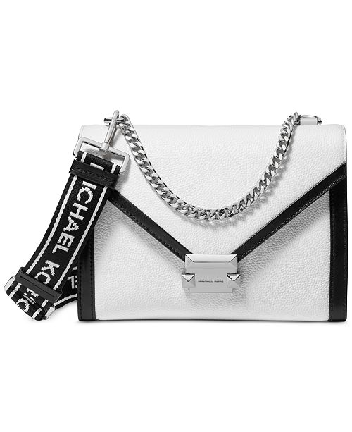 e9ef1a705082 Whitney Logo Pebble Leather Shoulder Bag
