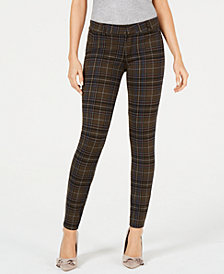 Kut from the Kloth Mia Plaid Skinny Jeans