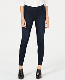 Kut from the Kloth Striped-Waist Seamed Jeggings