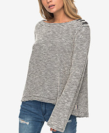 Roxy Juniors' Embellished Fleece Top