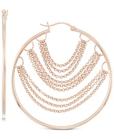 Simone I. Smith Chain Hoop Earrings