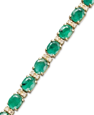 Brasilica by Effy Emerald (9-1/3 ct. t.w.) and Diamond (1/4 ct. t.w.) Tennis Bracelet in 14k Gold