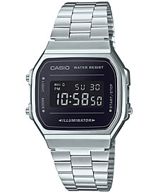 Casio Men's Digital Stainless Steel Bracelet Watch 36.3mm