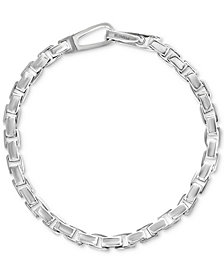 EFFY® Men's Polished Link Bracelet in Sterling Silver