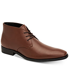 Calvin Klein Men's Rolando Dress Leather Chukka Boots