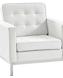 Modway Loft Leather Armchair