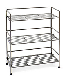 Seville Classics 3 Tier Iron Bar Tower Shelving