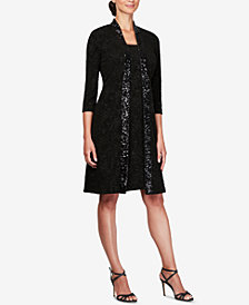 Alex Evenings Petite Sequined Jacket & Dress