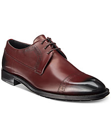 HUGO Men's Allure Water-Resistant Cap Toe Leather Oxfords