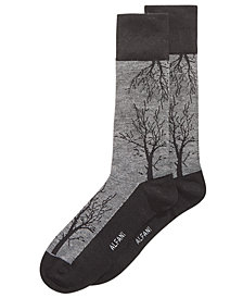 Alfani Men's Tree-Branch Printed Socks, Created for Macy's