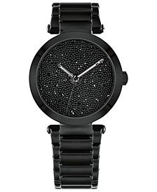 Women's Black Stainless Steel Bracelet Watch 32mm, Created for Macy's