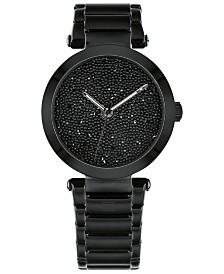 Tommy Hilfiger Women's Black Stainless Steel Bracelet Watch 32mm, Created for Macy's