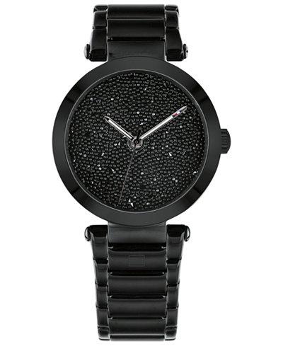Tommy Hilfiger Women's Black Stainless Steel Bracelet Watch 32mm, Created for Macy's