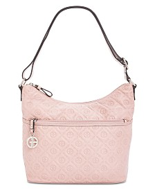 Giani Bernini Embossed Logo Hobo, Created for Macy's