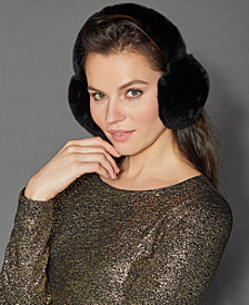 The Fur Vault Rabbit Fur Earmuffs