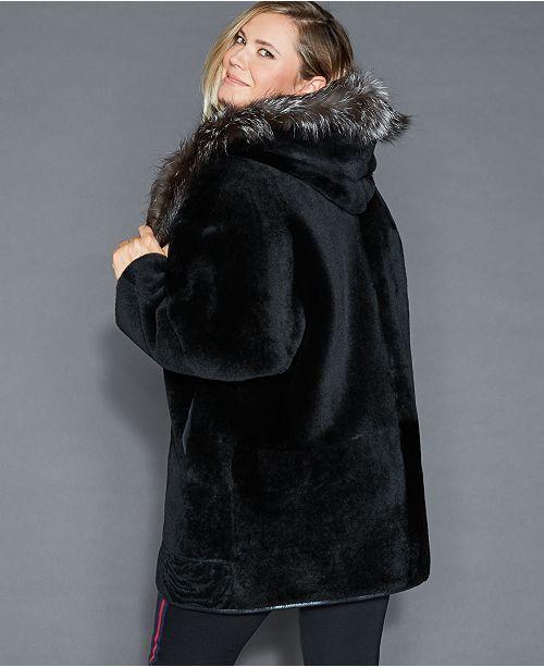 0a9f9466fb3 The Fur Vault Plus Size Reversible Shearling Lamb Jacket   Reviews ...