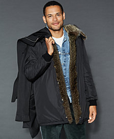 The Fur Vault Hooded Fur-Trim Parka