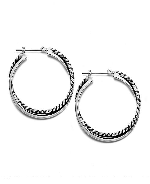 Lauren Ralph Lauren Twisted Hoop Earrings