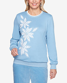 Alfred Dunner Simply Irresistible Embellished Appliqué Sweatshirt