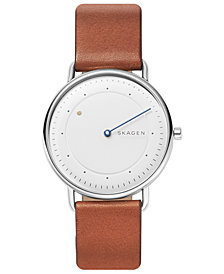 Skagen Men's Horisont Brown Leather Strap Watch 40mm, A Special Edition