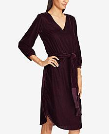 Lauren Ralph Lauren Velvet V-Neck Dress