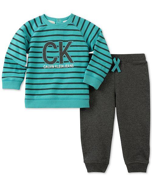 32400ea5169d Calvin Klein Baby Boys 2-Pc. Top   Jogger Pants Set   Reviews ...