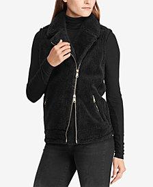 Lauren Ralph Lauren Faux-Shearling Full-Zip Vest