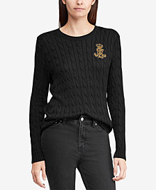 Lauren Ralph Lauren Crest Cable-Knit Sweater
