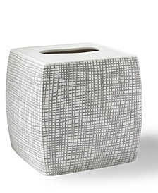 Kassatex Raffia Embossed Porcelain Tissue Holder