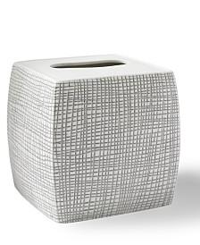 Cassadecor Cestino Embossed Porcelain Tissue Holder