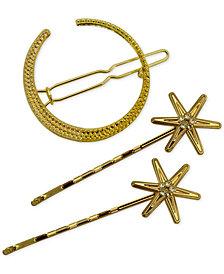 GUESS Gold-Tone 3-Pc. Moon & Star Hair Pins