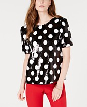 becfba39d05a Maison Jules Sequined Polka-Dot Top, Created for Macy's